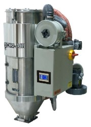 AHM-2 – 4 Hopper Mount dryers for throughputs up to 45 pounds per hour.