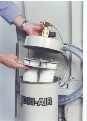 Bag filter with blow back for reduced filter maintenance
